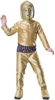 C3P0 Star Wars Mask Droid Robot Child Boys Costume NEW