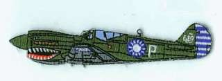 The CURTISS P 40 WARHAWK patch will make a great addition to your WWII
