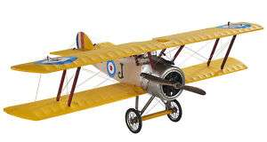 Desk Top WWI Sopwith Camel Biplane Wood Model Plane 10 781934508984