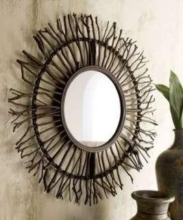 Stunningly gorgeous and so unique this round branch wall mirror is the