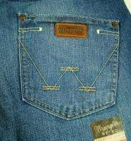 Mens Western Wrangler Retro Boot Cut Premium Patch Jeans NWT &58 size