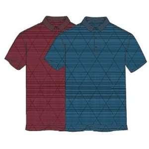 Greg Norman Luxury Heathered Strip Golf Polo Shirt Sports