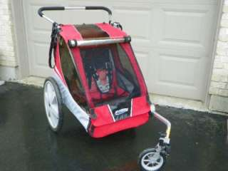CHARIOT CADDIE TOURING BIKE TRAILER WITH STROLLER HANDLE AND WHEEL