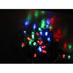 Set of 60 LED Multi Color 8 Function Wide Angle Christmas