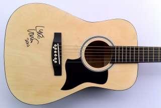 Lyle Lovett Autographed Signed Acoustic Guitar