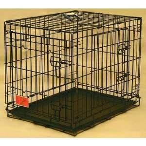 Double Door Folding Coated Steel Wire Dog Crate