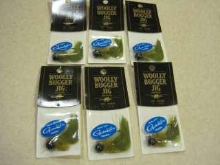 oz. Woolly Bugger Jigs   black / green
