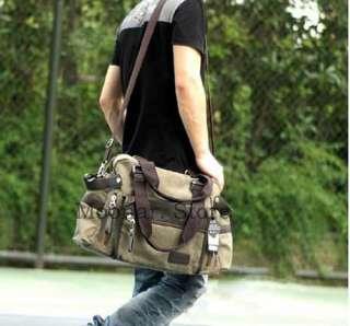 Brand New Men Canvas Hobo Casual Handbag Shoulder Bag