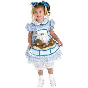Child Girls Goldilocks Cute Dress Storybook Costume NEW
