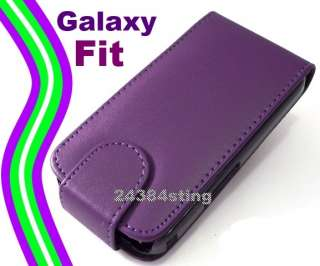 LEATHER FLIP CASE POUCH COVER for SAMSUNG GALAXY FIT