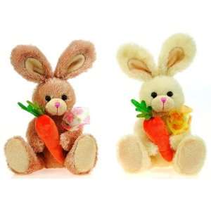 Assorted Color Bunnies Holding Carrot Case Pack 24