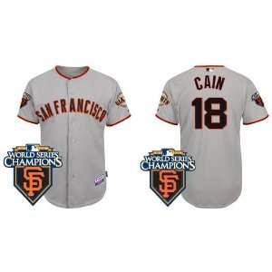 Wholesale New San Francisco Giants #18 Matt Cain Grey 2011