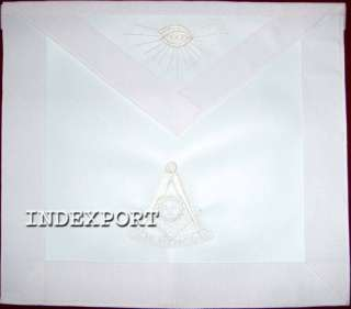 HAND EMBROIDERED MASONIC PAST MASTER APRON (MA 402 V)