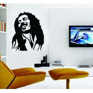 Large Bob Marley Black and White Wall Sticker Decal for Bedroom Living