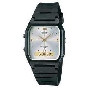Casio #AE48HE 7AV Mens Analog Digital Dual Time Zone Watch