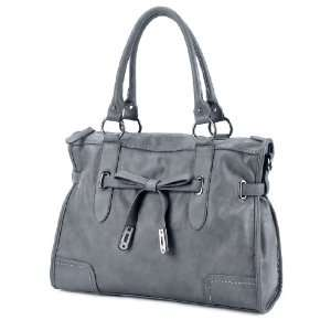 LSQ00109GR Gray Deyce Lady Distinctive PU Women Tote Bag