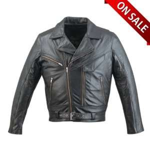 Leather Jackets   Mens Leather Motorcycle Jacket MJ208