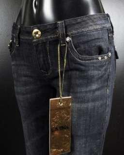 NWT Womens LA IDOL Skinny Jeans GOLD CRYSTAL WINGS 574NR