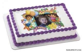 Dora & Diego Fiesta Photo Edible Image Cake Topper