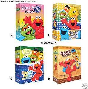 Sesame Street Elmo Cookie Monster 4R Photo Album 100 BN
