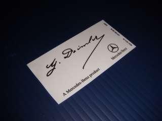 Mercedes Benz G Daimler Signed Windshield Decal Sticker