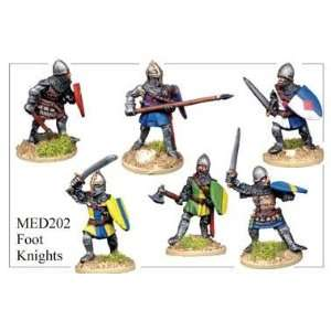 28mm Historicals   Medieval: Foot Knights Attacking: Toys & Games