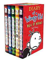 Diary of a Wimpy Kid Box of Books 1 5 by Jeff Kinney 2011, Paperback