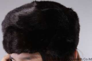 601 new real knitted mink fur 3 color hat/caps