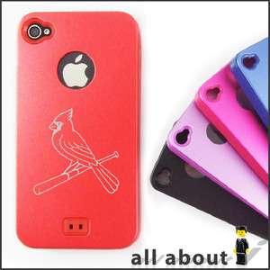 ST Louis Cardinals MLB Logo i Phone 4 4S Hard Metal Aluminum Alumor