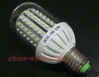 E27 90 LED Solar light lamp Bulb 5.5W 12V AC / 10 18V DC Warm White