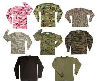Long Sleeve Lightweight Military T Shirt Camo LS Tee