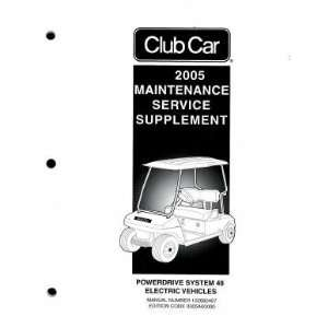 System 48 Electric Factory Service Manual Supplement Club Car Books