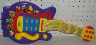 The Wiggles Wacky Wiggling Dancing Purple Toy Guitar Musical Singing