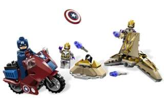 LEGO Marvel Super Heroes 6865 Captain Americas Avenging NIB Free