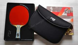 Ping Pong Table Tennis Racket Paddle Bat 6 star DHS 6002 NEW