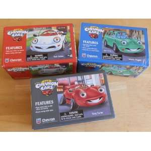 Complete 3 Piece Set Chevron Cars Sam Sedan, Tony Turbo