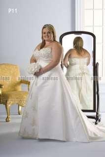 White or Ivory Sweetheart Sleeveless A Line Custom New Bridal Dress