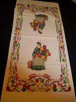 VTG KITCHEN TEA TOWELS XMAS SOUVENIR ROSE CRYING WINE IRISH COFFEE