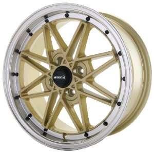 15x7 Maxxim Screech (Gold w/ Machined Lip) Wheels/Rims