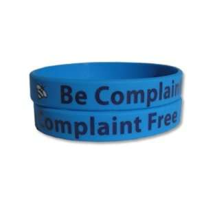 Be Complaint Free Rubber Bracelet Wristband   Adult 8