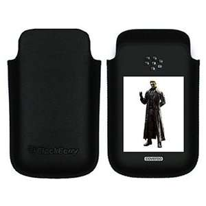 Resident Evil 5 Albert Wesker on BlackBerry Leather Pocket