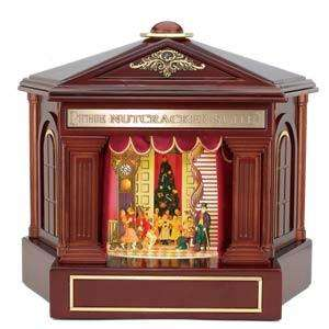 SUITE MUSIC BOX MR CHRISTMAS ANIMATED WOOD GOLD LABEL 4 SCENES