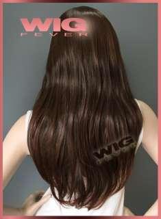58cm Long Dark Brown Hair Wig 9508