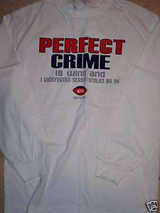 NEW YORK GIANTS SUPER BOWL PERFECT CRIME L/S T SHIRT M