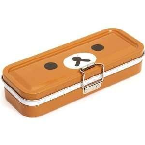 brown Rilakkuma bear pencil case San X Japan tin case