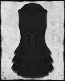 SPIN DOCTOR BLACK COPPER STEAMPUNK VICTORIAN GOTHIC BEATRICE WAISTCOAT