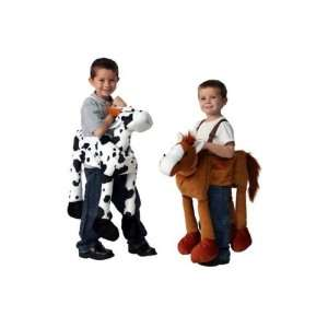 Plush Ride On Cow Horse Dressup Costume Halloween Farm Toys & Games
