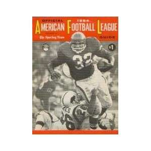 American Football League Official Guide 1964 Jack