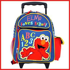 Sesame Street Elmo School Roller Backpack/Bag 12 ABC