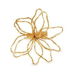 India Overseas Gold Poinsettia Napkin Ring